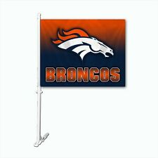 Denver Broncos Ombre Car Flag