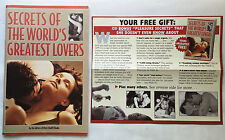 SECRETS OF THE WORLD'S GREATEST LOVERS SOFTCOVER HOW TO SEX ADVISE GAMES