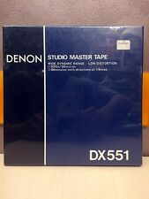 "DENON DX551 NEW SEALED 1/4"" REEL TO REEL TAPE JAPAN MADE"