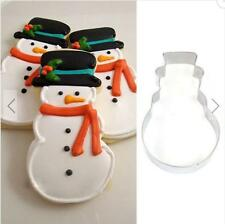 Stainless Steel Christmas Snowman Cookie Cutter Pastry Baking Mold Cake Tool