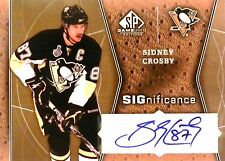 09-10 ud sp game used significance sidney crosby penguins autograph auto 2/25