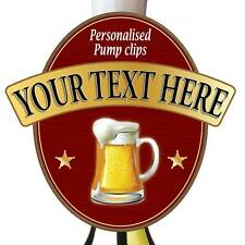 Personalised Beer Pump Badge, Metal Pump Sign With Pint Logo Any Text you Like