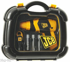JCB Toy Tool Case Kit Childrens Boys Role Play Pretend Battery Drill Screwdriver