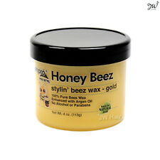 Ampro Pro Styl Honey Beez Wax 100% Pure For Natural Hair Gold W/ Argan Oil 4oz