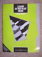 Aprenda como usted juega Oboe por Peter WASTALL * Nuevo *