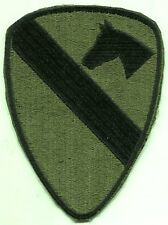 Vietnam Era US Army 1st Cavalry Patch Subdued Cut Edge