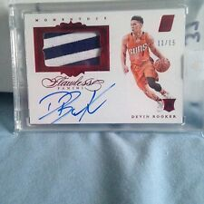 2015-16 Panini Flawless Devin Booker Auto RC 11/15 Ruby 2 Color Patch RPA