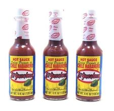 El Yucateco Red Salsa Picante de Chile Habanero Hot Sauce 4 oz(3 bottles)