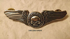 HARLEY DAVIDSON WILLIE G SKULL ON WINGS PIN
