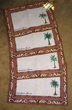 Palm Breeze ~ Palm Trees Tapestry Placemat Set ~ Set/4