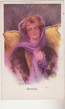 """SIGNED Phillip Boileau Postcard,""""Nocturne"""",Reinthal & Newman,c.1909"""