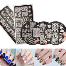 5 Design Born Pretty Nail Stamping Template Plates Kit Leaves Flowers Manicure