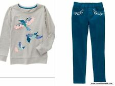 GYMBOREE BUTTERFLY GARDEN CORDUROY PANTS AND SWEATSHIRT TOP OUTFIT NWT SIZE 5