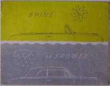 FORD Consul & Zephyr sei MK 1 Cabriolet 1955-56 ORIGINALE UK SALES BROCHURE