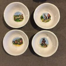Williams Sonoma Set Of 4 Easter Story Time Bunny Cereal/Dessert Bowls NEW IN BOX
