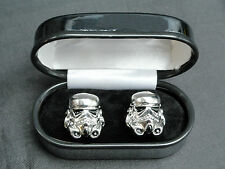 Star Wars Stormtrooper Mens Cufflinks cuff links storm trooper novelty Gift Box