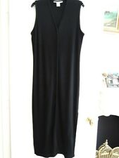 Ladies Button Front Dress Size L Midi Length Cotton Ribbed Dress by THE LIMITED