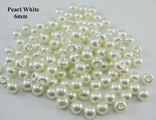 Mini buttons 6mm ABS Pearl botones side hole cream color 100pcs sewing supplies