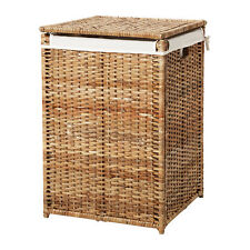 Fine Quality BRANÄS Laundry/Storage/Cloth Basket + Lining,Rattan,80L,60cm High