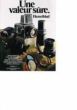 PUBLICITE ADVERTISING   1982   HASSELBALD   appareil photo reflex 6X6