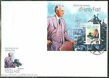 TOGO 2013 150th BIRTH ANNIVERSARY OF HENRY FORD SOUVENIR SHEET FIRST DAY COVER