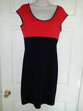 Narciso Rodriguez For Design Nation Scarlet Red/Black Stretch Knit Dress Sz.S