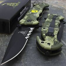 "8"" MARINE DON'T TREAD ON ME SPRING ASSISTED TACTICAL FOLDING POCKET KNIFE Blade"