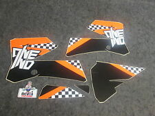 KTM SX85 2006-2012 One Industries noir/blanc/orange Carreaux kit graphique 1G58
