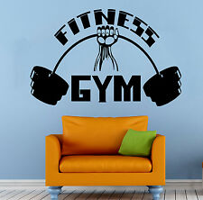 Fitness Gym Wall Decal Vinyl Sticker Sports Athletics Home Wall Decor (18wsed)