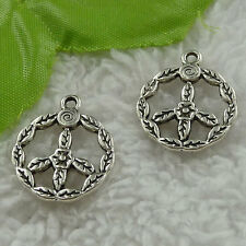 free ship 74 pcs tibet silver peace symbol charms 24x20mm #3414