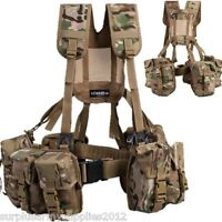 COMPLETE PLCE WEBBING 6 PIECE SET MTP MULTICAM BRITISH ARMY AMMO UTILITY POUCH