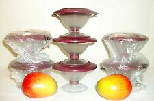 Tupperware NEW Host Award JEWEL Gem ~7 Preludio acrylic Dessert Dishes ~RUBY RED
