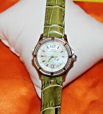 BEAUTIFUL Womens Invicta 13833 Wildflower MOP Crystal Heart Date Watch F91