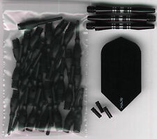 """BLACKOUT"" Soft Tip Dart Upgrade Kit: Black Tips, Black Flights, Shafts & More"