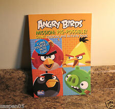 Angry Birds Coloring and Activity Book Mission Pig Possible  NEW