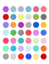 Graphic Design Background Patterns ~ PRINTABLE Bottle Cap Images ~  42 Designs