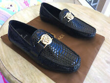 Gianni Versace Leather Shoes Moccasins US 9 EU 42 Brand New No Box