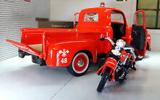 G LGB 1:24 Scale Maisto Fire Engine 1948 Ford F1 1936 Harley Davison Model Truck