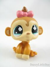 The Littlest Pet Shop~811~Tan Monkey with Pink Bow