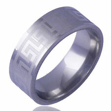 Mens Womens Stainless Steel Silver Jewelry Wedding Bands Couple Ring Size 10