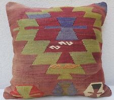 """Top Quality Handwoven Kilim Pillow Cover, Old Turkish Rug Pillow Cover,20"""" X 20"""""""