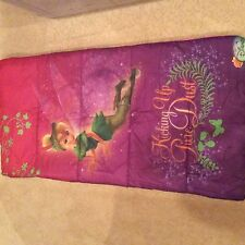 Disney Tinkerbell Fairies Girl's Sleeping Bag - Camping Hiking Slumber with Case