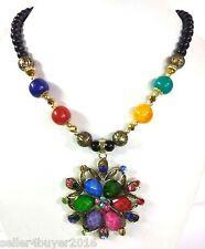 Cosmos Handicraft Highly Trendy Partywear Design Fashionable Multicolor Necklace