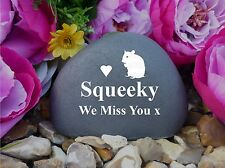 Pet Hamster Memorial Pebble (Stone Effect) Weatherproof & Personalised (FS)