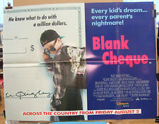 Walt Disneys  BLANK CHEQUE Karen Duffy(1992)Original UK quad cinema poster