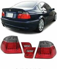 SMOKED LED REAR TAIL LIGHTS LAMPS BMW E46 3 SERIES FACELIFT SALOON 2001-2005