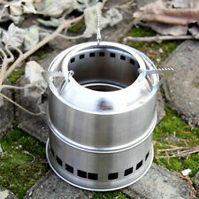 Outdoor Camping Hiking BBQ Picnic Cooking Stainless Steel Alcohol Wood Stove Hot