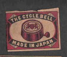 Ancienne   étiquette Allumettes   Japon     WWW450 Sonnette de vélo