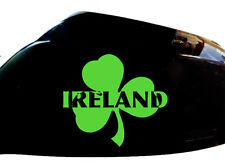 Ireland Irish Shamrock Car Sticker Wing Mirror Styling Decals (Set of 2), Green