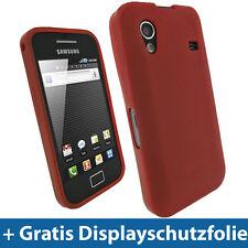 Rot Gel Tasche für Samsung Galaxy Ace S5830 Android TPU Hülle Case Etui Skin
